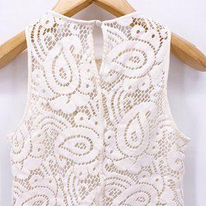 Nanette Lepore Tops - Nanette Lepore Womens Blouse White Floral 6